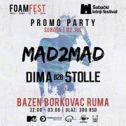 Promo žurka Foam fest na bazenu Borkovac Ruma