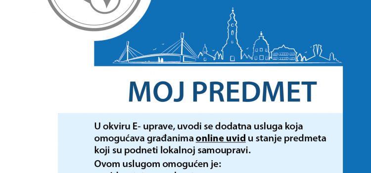 SM: MOJ PREDMET za bolji uvid u zahteve građana