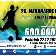Sremska Mitrovica: Finale 29. Međunarodnog futsal turnira