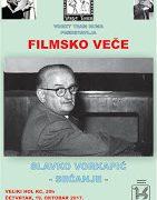 Ruma: Filmsko veče posvećeno Slavku Vorkapiću