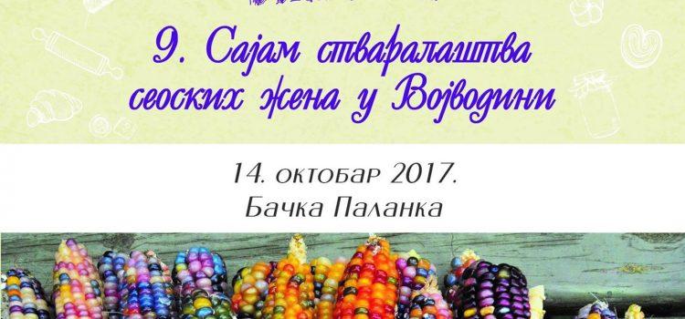 9. Sajam stvaralaštva seoskih žena u Vojvodini sutra u Bačkoj Palanci