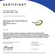 JKP Komunalije Sremska Mitrovica uspešno sertifikovano