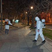 Dezinfekcija javnih površina u Rumi