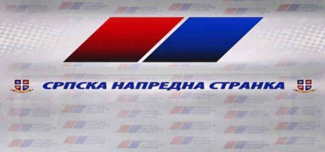 Saopštenje za javnost Odbora srpske napredne stranke Vojvodine, Mačvanskog i Kolubarskog okruga