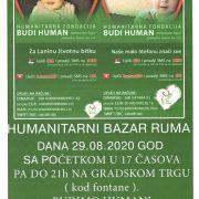 Humanitarni bazar u Rumi 29. avgusta