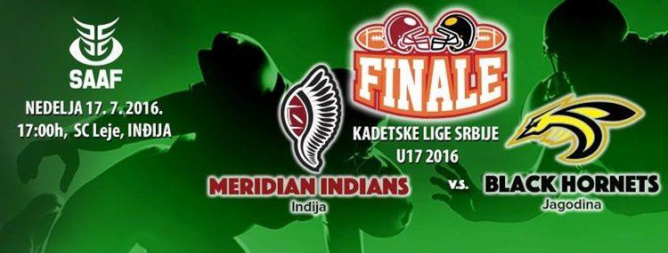 Finale Kadetske lige Srbije 17. jula u Inđiji