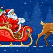 Deda Mraz u kočijama u centu Bačke Palanke