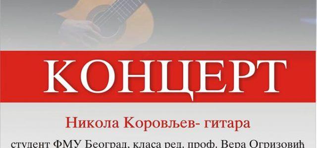 Bačka Palanka: Koncert Nikole Korovljeva na klasičnoj gitari