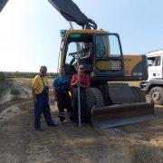 Obilazak radova na izgradnji pristupne saobraćajnice u industrijskoj zoni Šid