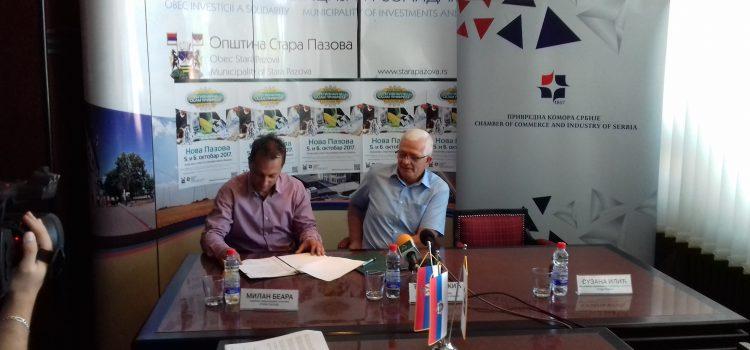 Stara Pazova: Potpisan ugovor o organizaciji Regionalnog sajma privrede