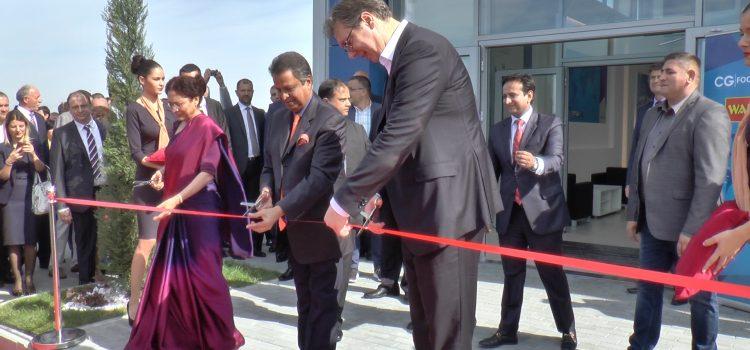 Predsednik Vučić na otvaranju fabrike nudli u Rumi