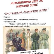 Humanitarno veče za Nikolinu Gutić: Život kao igra – šetnja kroz vreme